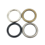 Welded O Ring 3/4 1 1-1/4 1-1/2 1-3/4 Inch Black Silver Antique Brass Pewter