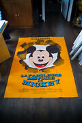 Fabulous Story Of Mickey Mouse 4x6 Ft Vintage French Grande Movie Poster 1968