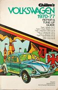 Volkswagen Tune Up/repair Guide For 1970 To 1977 Models By Chiltons