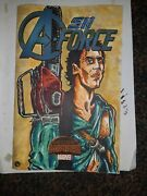 A-force 1 Blank W Original Artwork Of Ash From Evil Dead W Uv Invisible Ink