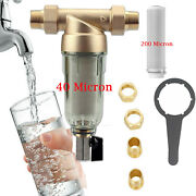 Whole House Spin Down Water Filter Clear Sediment Water Filter For Ro System