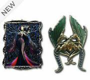 Disney Store Maleficent Disney Designer Collection Pin Set Limited Release