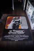 Streetcar Names Desir 4x6 Ft Vintage French Grande Movie Poster Rerelease 1970and039s