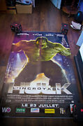 Incredible Hulk Style A 4x6 Ft Bus Shelter D/s Movie Poster Original 2008