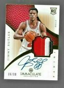 2012-13 Immaculate Jimmy Butler 3 Color Jersey Auto Rc Ser. 36/99 Miami Heat