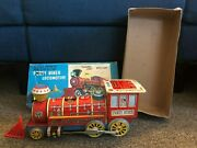 Forty Niner Locomotive Battery Operated Tin Train 1732 With Box Vintage