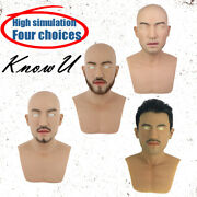 Silicone Homme Couvre-chef Cosplay Haute Simulation Barbe Et Cheveux Halloween