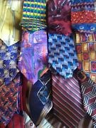 Lot 13 Vintage J Garcia Jerry, Zylos And Cocktail Colors Silk Neck Ties