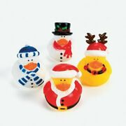 Holiday Rubber Ducks - Duckies - 12 Count