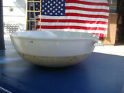 Huge 40-n Coors Porcelain Evaporating Dish Basin With Spout Coors Usa 18