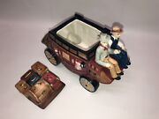 Wells Fargo And Company Cookie Jar Stagecoach Wagon Ceramic Collectible 2002
