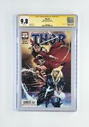 Thor 4 1st Print Cgc 9.8 Signed By Donny Cates Black Winter Cameo