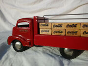 Coca Cola 1940and039s Smith-miller Smitty Red Delivery Truck Metal And Wood Rare