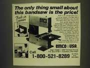1985 Emco Bs-3 Benchtop Bandsaw Ad - The Only Thing Small About This Is