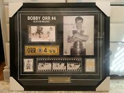"""Bobby Orr Boston Bruins Signed 28""""x24.5"""" Frame Canada Post Limited Edition Nhl"""