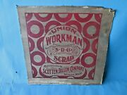Vintage Union Workman Chewing Tobacco Shipping Box Panel Marked As Scrap
