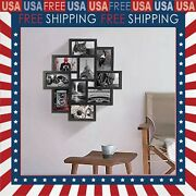 Multiple Photo Frames 10 Opening 4x6 Black Collage Picture Frame Wall Hanging