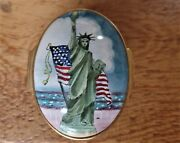 Halcyon Days Enamels Reuge Music Box Designed By Tiffanyandco. Statue Of Liberty