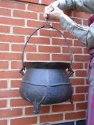 Rare English Bronze Cauldron17 Cent James Fathers South Petherton With Hooks
