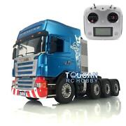 1/14 Lesu Metal Chassis Rc Scania 88 Tractor Truck Sound Hercules Cabin Radio