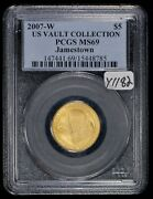 2007-w G5 Jamestown Anniversary Commemorative Gold Coin - Pcgs Ms 69 - Y1182