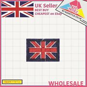 Small Union Jack Flag Iron On Wholesale Embroidery Applique Patches Sew Iron