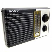Sony Icf-f10 Two 2 Band Fm/am Portable Battery Transistor Radio New