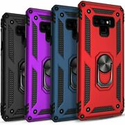 For Samsung Galaxy Note 9 Case Ring Kickstand Cover+ Tempered Glass Protector