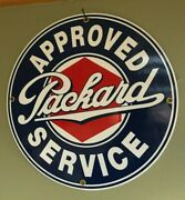 Classic Approved Packard Service Heavy Duty 18 Gauge Porcelain Coated Sign