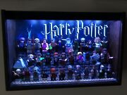 Lego Harry Potter Cmf Minifigures And Bricktober With Custom Light Up Display Case