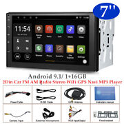 7and039and039 Android 9.1 Wifi 2din Hd Car Fm Am Radio Stereo Gps Navi 1+16gb Mp5 Player