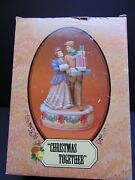Enesco Treasured Memories Christmas Together Musical Porcelain Limited Edition