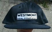 Vtg Westmont Patch Mine Mining Coal Company Trucker Hat Cap Patch Made Usa Black