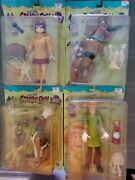 Scooby Doo Collectible Action Figures 1999 Set Of 4 Scooby Velma Shaggy And Chef
