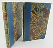 1837 Memoirs Of Celebrated Women Volumes I And Ii Marbled Calf Leather Book Set