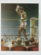 Vintage 1968 George Foreman Mexico City Olympic Games Poster By Robert Gunn