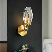 National Crystal Brass Candle Holder E14 Bulb Brass Surface Home Decor Wall Lamp