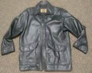 Phase Two Black Zip Up Genuine Leather Jacket Mens Size M
