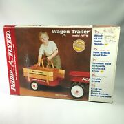 Radio Flyer Wagon Trailer Wt18 Wood Sides Full Size Tow Behind New