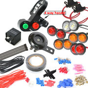 Led Turn Signal Kit With 4way And Horn For Atv Scooter Moped 4x4 Fourwheeler Quad