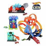 Hot Wheels Ultimate City Track Set 4 In 1 Playsets Racing Track Toy Kids New