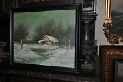 Vintage Americana Winters Cape Listed Artist James Gibson 1938 - 2017