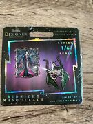 🔥ships Today🔥maleficent Disney Designer Collection Midnight Masquerade Pin Set