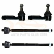 4x Front Outer Inner Tie Rod Ends Suspension Kit Fits 2004 2005 2006 Ford F-150