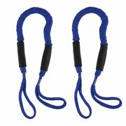 2pcs Bungee Dock Line Mooring Stretch Rope Quick Docking Boats Camping Hiking