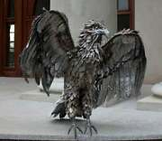 Wrought Iron Figure - Natural Size - Eagle Forged From Steel - Hand Made