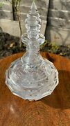 Beautiful Vintage Glass Crystal Decorative Perfume Bottle With Stopper C1