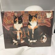Calico Cats And Friend 1989 Vintage Piece Jigsaw Great American Puzzle Factory