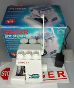 Singer Tiny Serger Overedging Sewing Machine Model Ts380a W/ Box Used