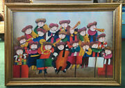 Canvas Oil Painting Musician Children By J.roybal 42 X 30